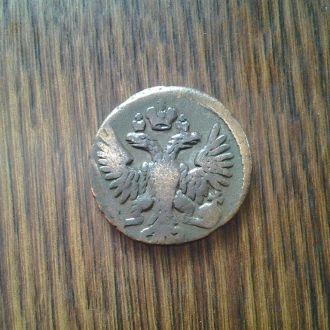 Деньга 1731г. покрыта лаком