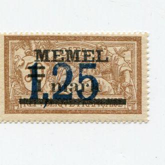 ГЕРМАНИЯ 1922 ** МЕМЕЛЬ НАДПЕЧАТКА