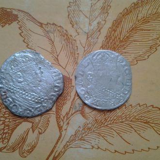 2 Серебрянные средневековые монеты.
