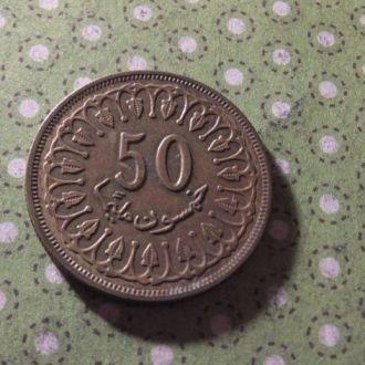 Тунис монета 50 миллим 1983 год !