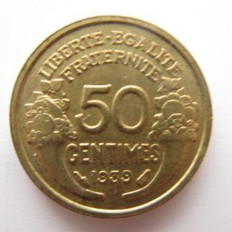 Франция. 50 сантимов 1939 г.