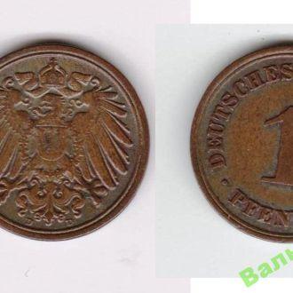 1 пфеннинг 1907 D D