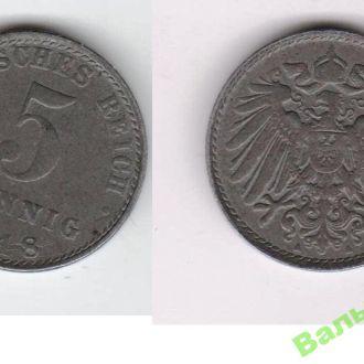 5 пфеннингов 1918 A A