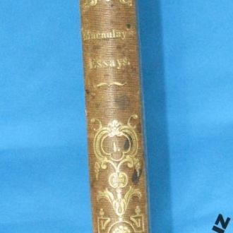 Macaulay. Critical and historical essays. 1850