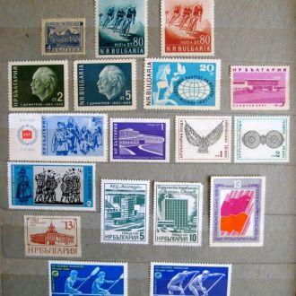 БОЛГАРИЯ =1948, 1957 - 1988 г. = 47 марок = негаш.