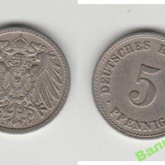 5 пфеннингов 1908 A A