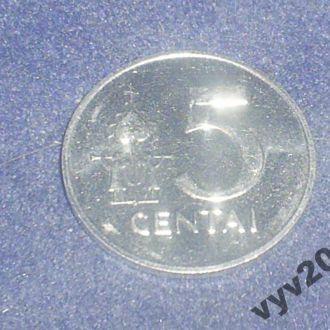 Литва-1991 г.-5 центов