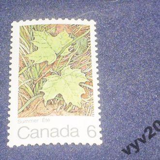 Канада**-1971 г.-Лето, листья клена (полная)