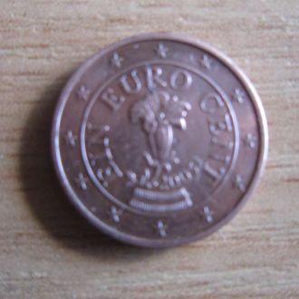 1 евроцент Австрия 2005 флора цветок