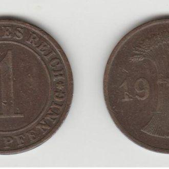 1 рейхспфенниг 1934 А  Германия