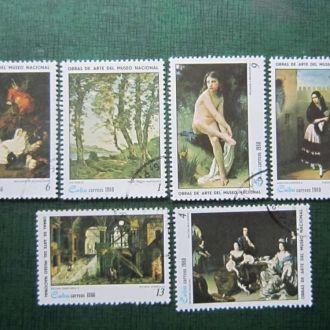 6 марок Куба 1980 искусство живопись