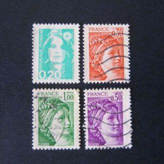 4 марки Франция стандарт №2