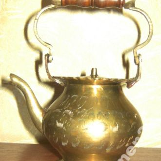 кофейник чайник антиквариат латунь