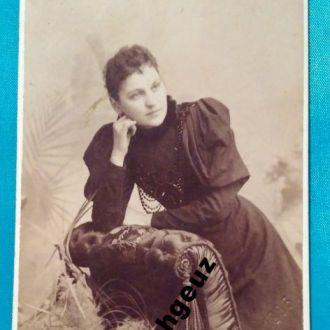 Фото Барыня. Фотограф Занарди. 1895 г. Харьков