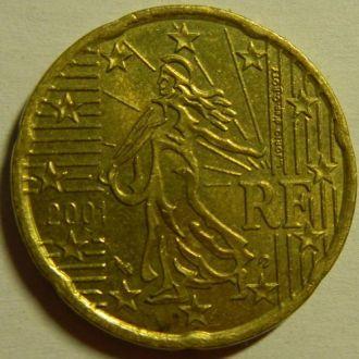 20 евроцентов 2001 Франція