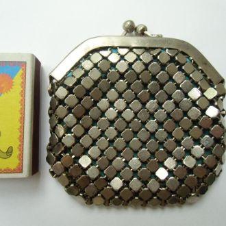 Кошелек редикюль метал старинный кольчуга Редкость