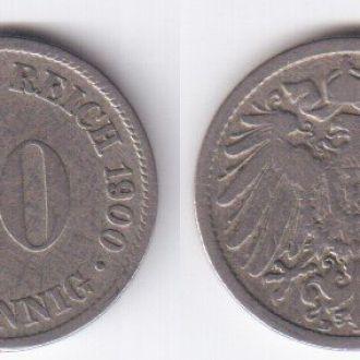 10 пфеннингов 1900 D