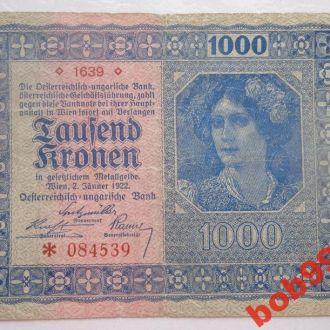 1000 крон 1922 г  Австрия