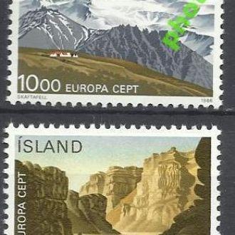 Исландия 1986 Европа СЕПТ природа 2м.**