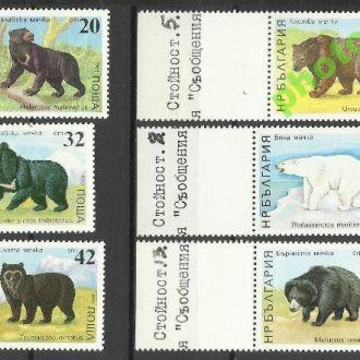 Болгария 1989 фауна коты 6м.**
