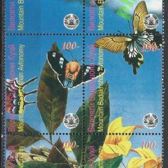 Таджикистан Горный Бадахшан 199? фауна бабочки 6м.