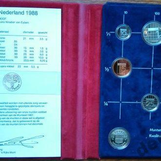 Нидерланды,годовой набор 1988 г в планшете.Пруф.