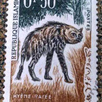 марки Мавритания фауна гиена