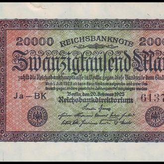 ГЕРМАНИЯ. 20000 Марок - 1920 г. (Pick № 85b). XF