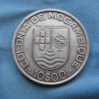Мозамбик 10 эскудо 1936 год Серебро ОЧЕНЬ РЕДКАЯ!!! СОСТОЯНИЕ!!!