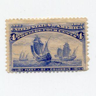 США 1893 * КОЛУМБ ФЛОТ ПАРУСНИК КОРАБЛЬ