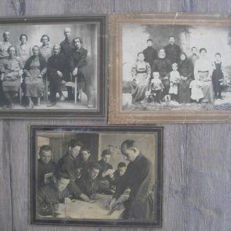 Фотографии старые Офицеры Семья 3 шт