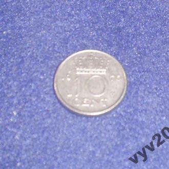 Голландия-1976 г.-10 центов