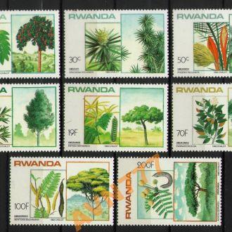 Руанда 1984 Флора Деревья серия **