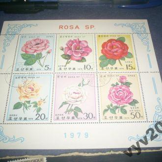Сев. Корея-1979 г.-Розы (полная)
