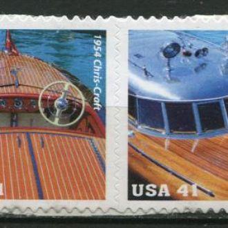 США Транспорт Корабли Знаменитые яхты Сцепка MNH