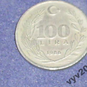 Турция-1988 г.-100 лир