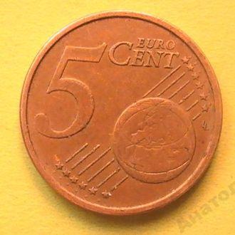 5 Евроцентов 2005 г Италия 5 Центов Центів 2005 р