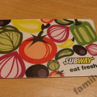 Карточка пластик USA -  SUB WAY #1