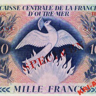 French Guiana 1000 франков 1944 год. КОПИЯ