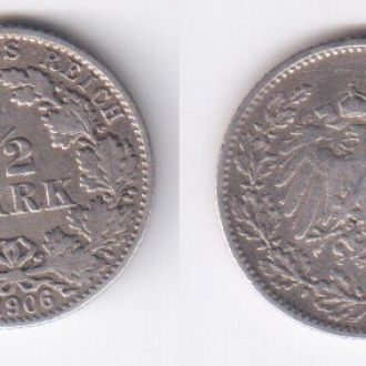 1/2 марки  1906 D Серебро