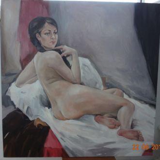 Картина Обнажённая масло,холст 80х80