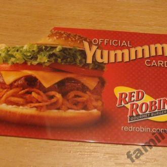 Карточка пластик USA -  RED ROBIN  # 4