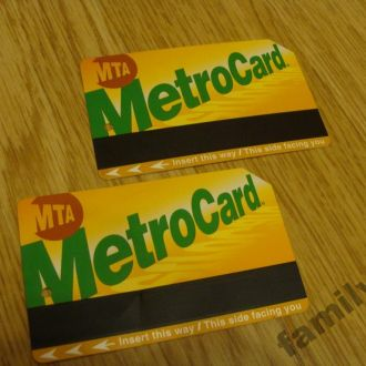 Проездной билет США -Метро
