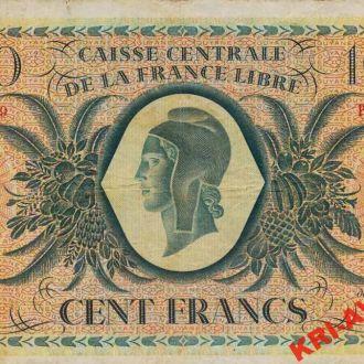 French Guiana 100 франков 1941 год. КОПИЯ