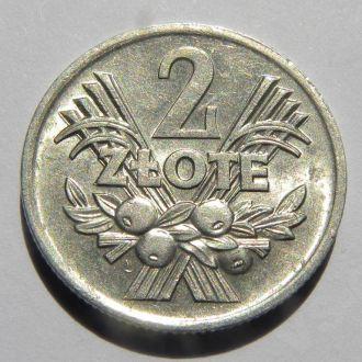 Польша. 2 злотых 1974г.