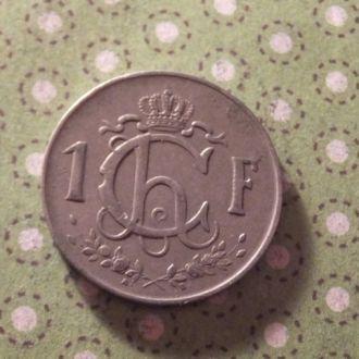 Люксембург 1952 год монета 1 франк !