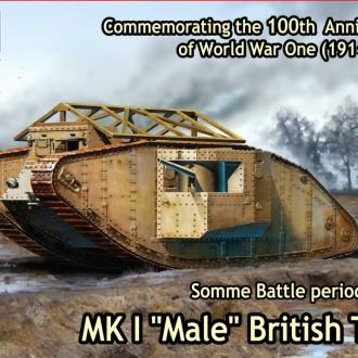 "Master Box 72001 Mk.I ""Male"" tank"
