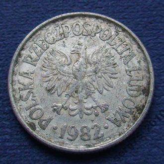 1 злотый Польша 1982 года