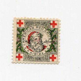 США 1912 ** МЕДИЦИНА КРАСНЫЙ КРЕСТ НОВЫЙ ГОД САНТА