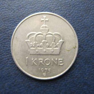 1 крона Норвегия 1975